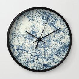 Darwinian Indigo Wall Clock