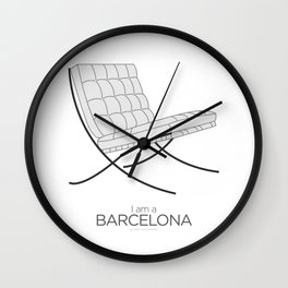 Chairs - A tribute to seats: I'm a Barcelona (poster) Wall Clock