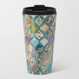 vintage Lanterns on bed of blues Travel Mug