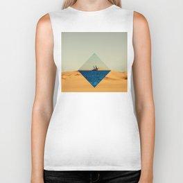 Boat sail the desert Biker Tank