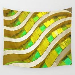 Pop Art Urban Architecture Apartment Block Wall Tapestry
