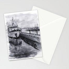 Kirkland Marina Waterfront Boat Watercolor Seattle Stationery Cards