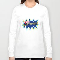 australia Long Sleeve T-shirts featuring Australia by mailboxdisco