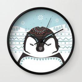Messer Pinguino Wall Clock