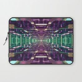 Aqua and Purple Tunnel Laptop Sleeve