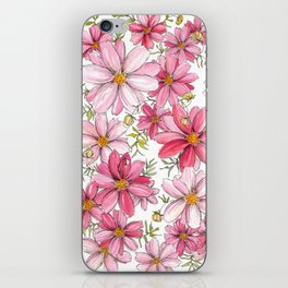 Pink Spring Flower Pattern iPhone Skin
