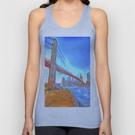 Brooklyn Bridge New York Pop Art Unisex Tank Top