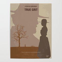 No860 My True grit minimal movie poster Poster