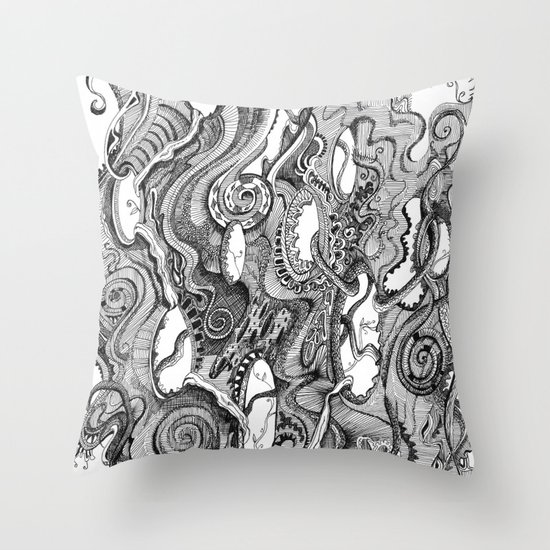 Tendrils Throw Pillow