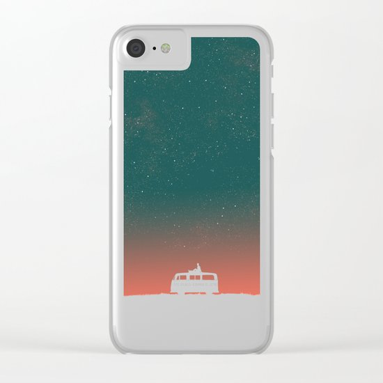 Quiet Night - starry sky Clear iPhone Case