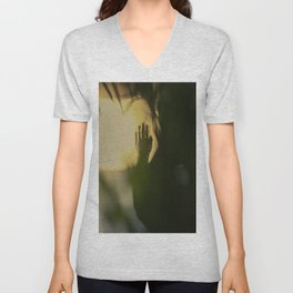 A Lonely Hand, wrist, in shadow, dark and light Unisex V-Neck