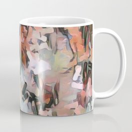 Abstract Confetti Landscape Peach Coffee Mug