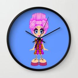 Flip-flop dress doll Wall Clock