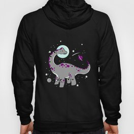 Asexual Brachiosaurus In Space Asexual Gift Hoody