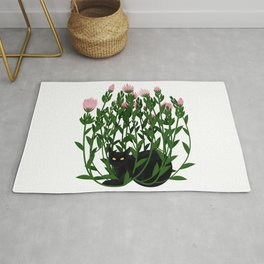 Cat and king protea Rug