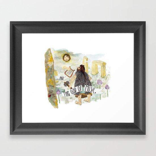God of music Framed Art Print