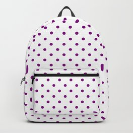 Dots (Purple/White) Backpack