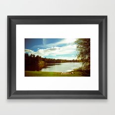 Bright sunny day Framed Art Print