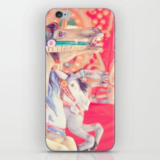 Pink Carousel Horse iPhone & iPod Skin