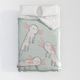 Three Little Axolotls Duvet Cover