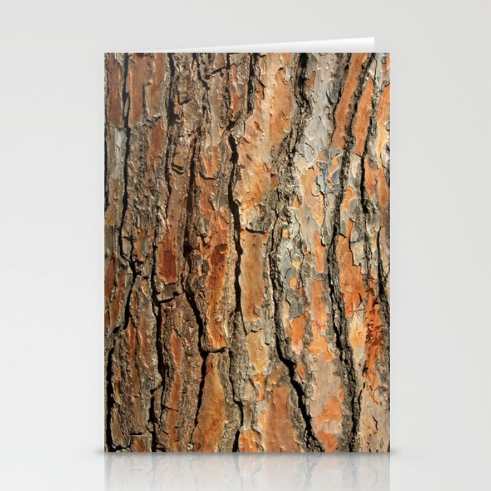 Bark 05 Red Brown Stationery Cards