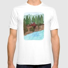 Landscapes / Nr. 8 Mens Fitted Tee White MEDIUM