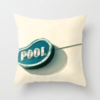 pool Throw Pillows featuring Pool by bomobob