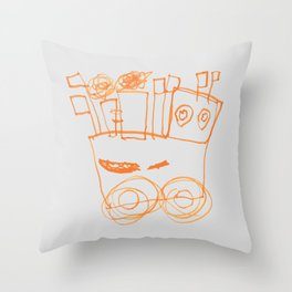 Ben's Monster Trucks no.2 Throw Pillow