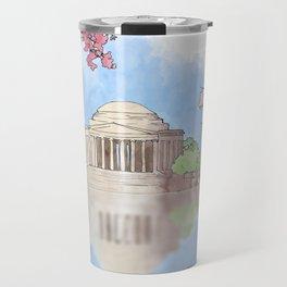 Cherry Blossom - Jefferson Memorial Travel Mug