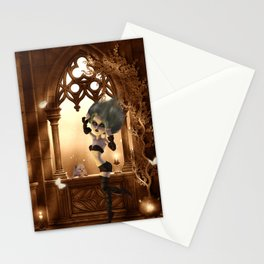 Little dark fairy in the night Stationery Cards