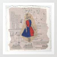 barbie Art Prints featuring Barbie by Sophie Jewel