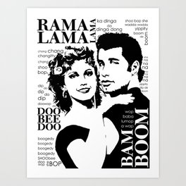 Grease Art Print