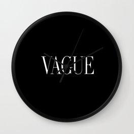 Vague Wall Clock
