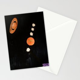 'Jupiter + Saturn Conjunction Watercolor' Thru a Telescope Stationery Cards