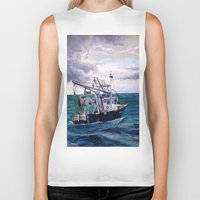 england Biker Tanks featuring New England by Samantha Crepeau
