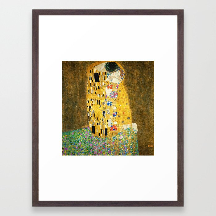 Gustav Klimt The Kiss Framed Art Print by artgallery | Society6