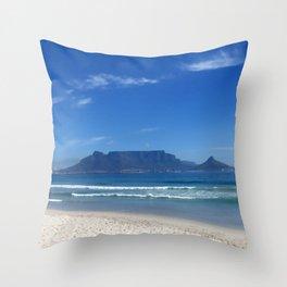 Table Mountain Cape Town Throw Pillow