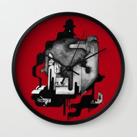 dramatical murder Wall Clocks featuring Murder by Iribú
