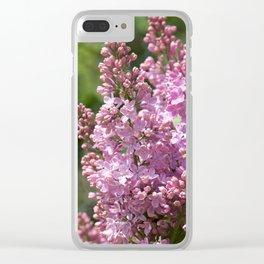 Lilac (Syringa vulgaris) Clear iPhone Case