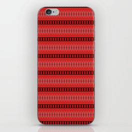 Red and Black Chain Abstract iPhone Skin
