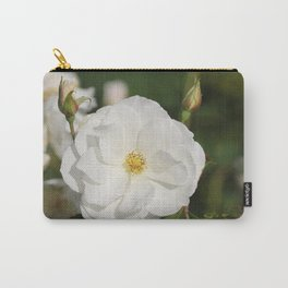 White Flowers and Buds by Reay of Light Photography Carry-All Pouch
