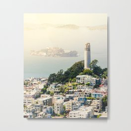 San Francisco View of Coit Tower Metal Print