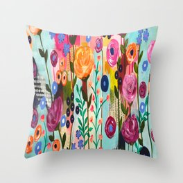 Boca to Miami Throw Pillow