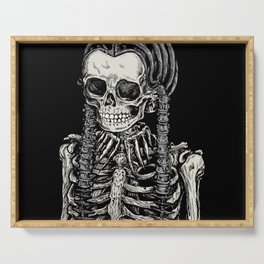 Wednesday Skeleton Serving Tray