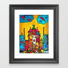 PopART Castle Dream (selfpaint) by Nico Bielow Framed Art Print