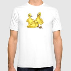 Ducklings White SMALL Mens Fitted Tee