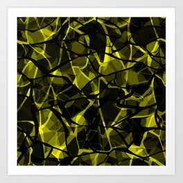 Abstract 31 camouflage Art Print