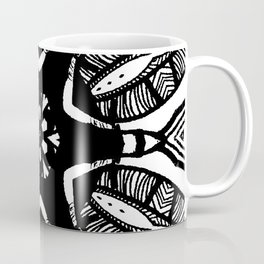black n white tribal print Coffee Mug