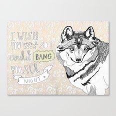 I wish you were a door Canvas Print