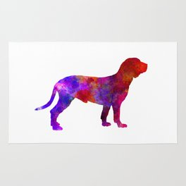 Spanish Hound in watercolor Rug